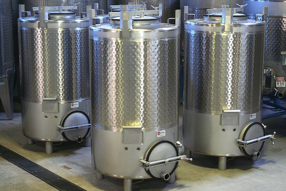 Tanks at the Gravity Wine House facility.